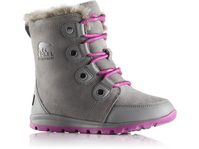 Sorel Whitney Joan Boots Youth Quarry/Raspberry